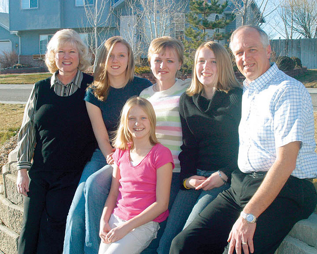 Mormon family with teens
