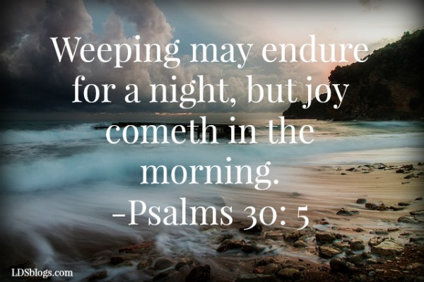 beach in a storm- Psalms 30:5