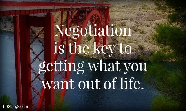 Negotiation is the key to getting what you want.