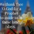 We thank god for a prophet
