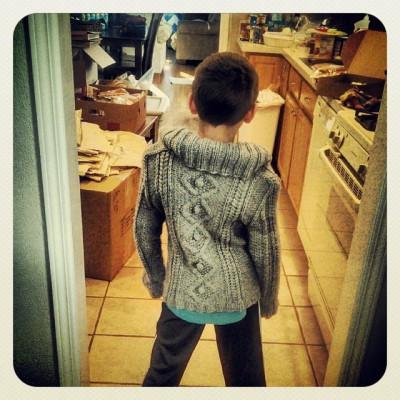 sweater behind