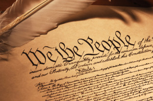 Close up of the Constitution of the United States of America