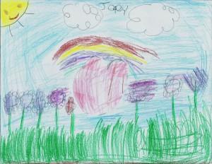 Joey art rainbow