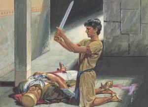 Nephi kills Laban