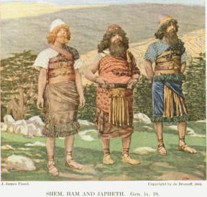 Shem, Ham and Japheth by James Tissot 1904