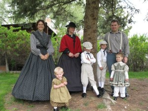 Clothing from the 1860's.