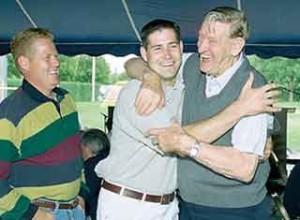 Floyd (far right) and his bear hugs.