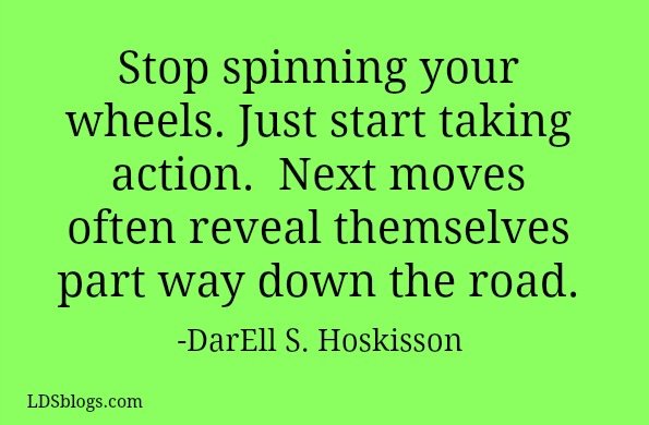 "Stop ""Spinning Your Wheels"""