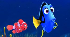 Dory, Nemo, and Marlin