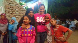 Having fun with the Elhina girls.