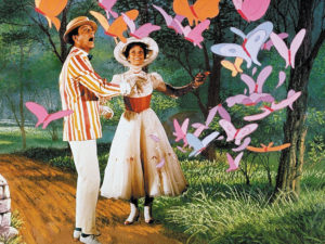 Mary Poppins and Burt have an adventure in the park.