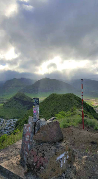 The mountain view from the top of the last pillbox.