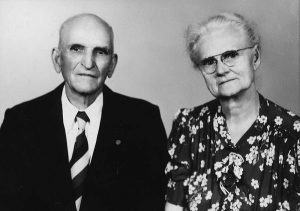 Moroni and Nelli Traxler on their 50th wedding anniversary.