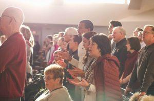 church singing praising