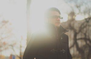 man in glasses sunlight