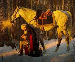 George Washington prayer Valley Forge