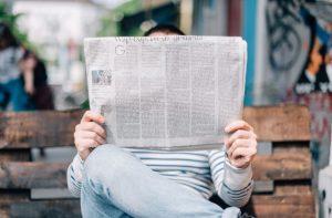 newspaper news reading