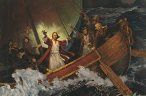 Jesus calms the storm, tempest