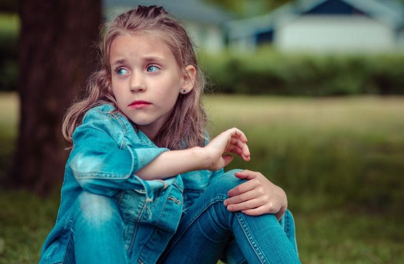 little girl bullying sticks and stones
