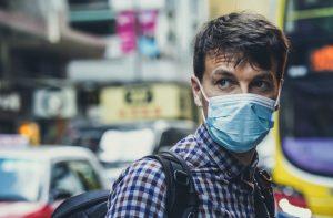 sick man mask pestilence