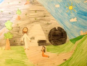 Jesus and Mary at the Empty Tomb by Kate (10)
