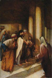 Peter healing a man