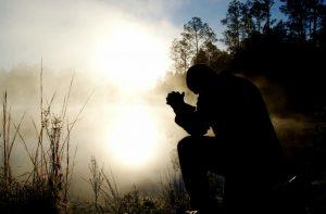 prayer shadow silhouette