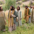 Christ walks path