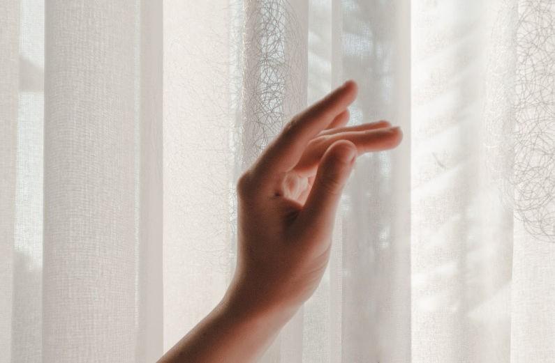 thin curtain veil