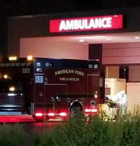 COVID ER ambulance